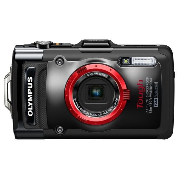 Olympus Tough TG-2 iHS 12 Megapixel Compact Camera - Black