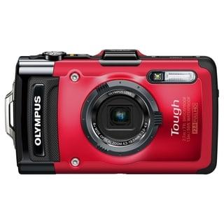 Olympus Tough TG-2 iHS 12 Megapixel Compact Camera - Red