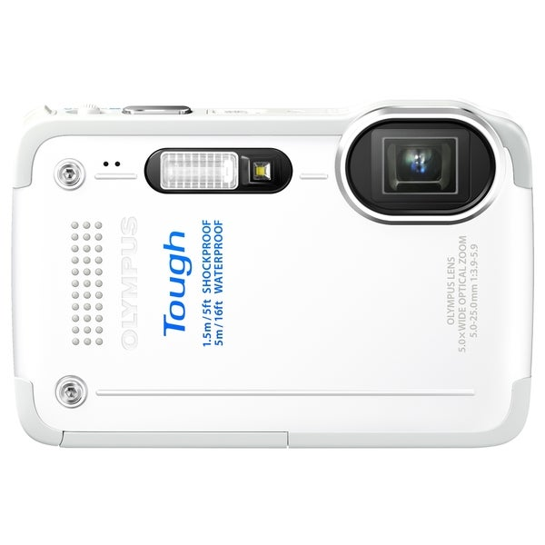 Olympus Tough TG-630 iHS 12 Megapixel Compact Camera - White