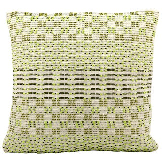 Mina Victory Woven Luster Vicky Green Throw Pillow (20-inch x 20-inch) by Nourison