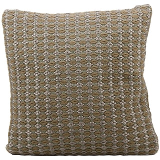 Mina Victory Woven Luster Malai Dori Brown Throw Pillow (20-inch x 20-inch) by Nourison