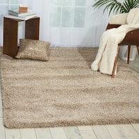 Nourison Amore Oyster Shag Area Rug - 5'3 x 7'5