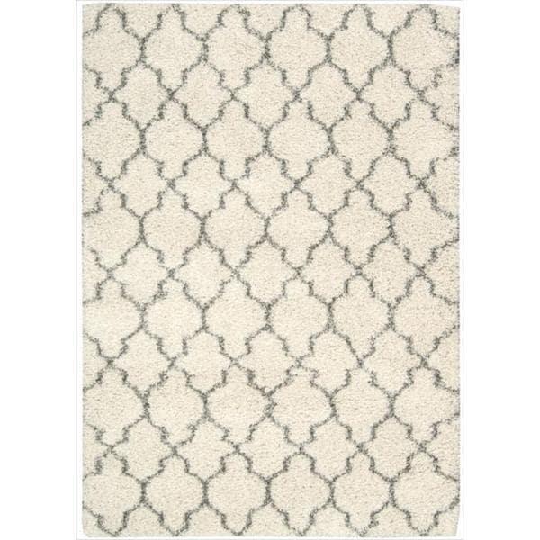Nourison Amore Cream Shag Area Rug (3'11 x 5'11)