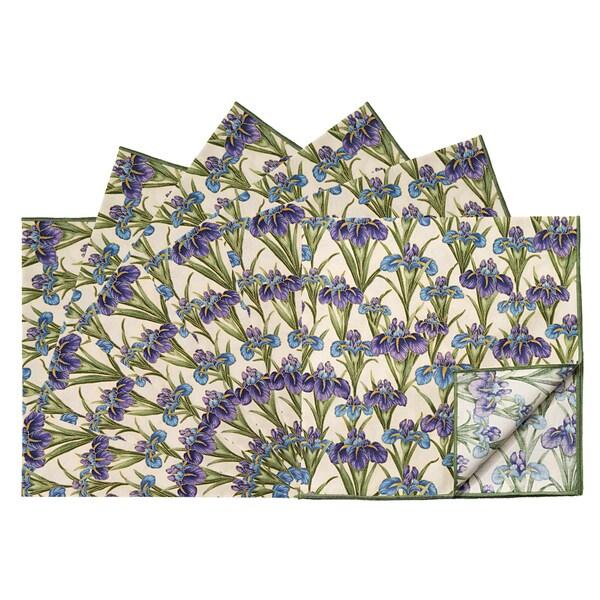 Rose Tree Plum Iris 18-inch Square Napkins (Set of 6)