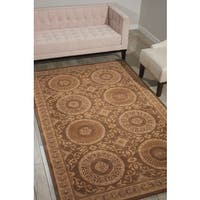 Nourison Hand-tufted Versailles Palace Mocha Brown Rug (5'3 x 8'3) - 5'3 x 8'3