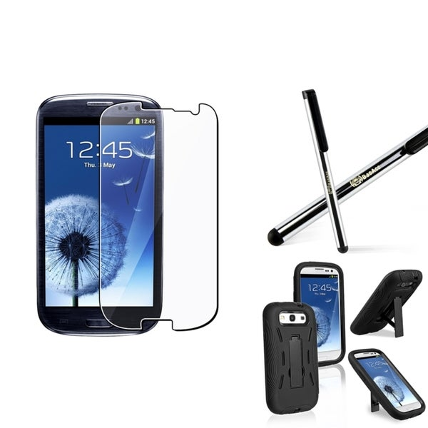 BasAcc Hybrid Case/ Stylus/ LCD Protector for Samsung Galaxy S III/ S3