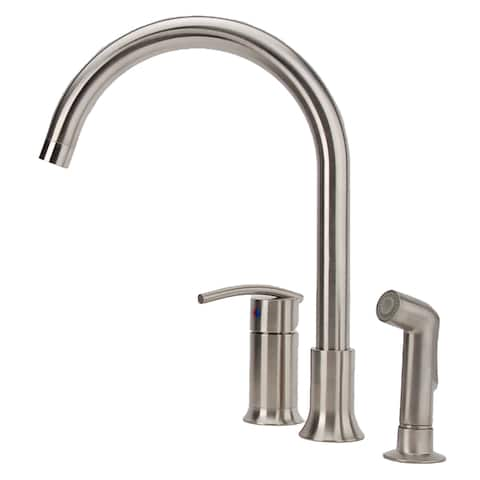 Fontaine Vincennes Single-handle Brushed Nickel Kitchen Faucet with Side Spray - Brushed Nickel