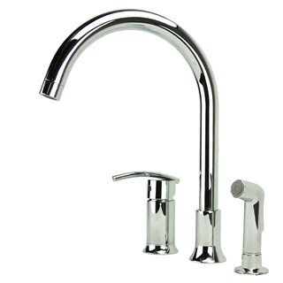 Charmant Fontaine Vincennes Single Handle Chrome Kitchen Faucet With Side Spray