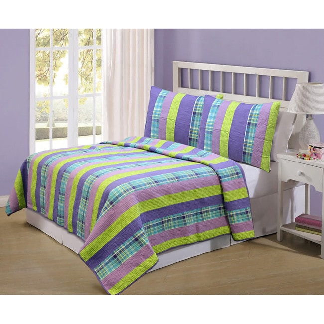 Best Panama Island 3-piece Quilt Set (King), Multi (Cotto...