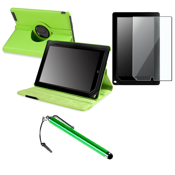 INSTEN Green Phone Case Cover/ Protector/ Stylus for Barnes & Noble Nook HD+