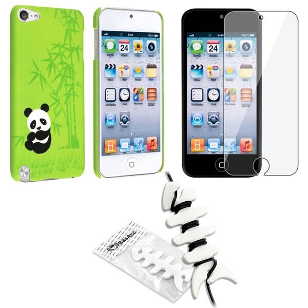 BasAcc Panda Case/ Screen Protector/ Wrap for Apple iPod Generation 5