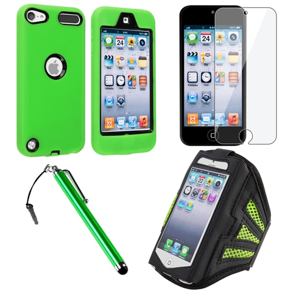 Insten iPod Case Cover/ Clear Screen Protector/ Armband for Apple iPhone 5 /5C/5S/ iPod Touch Generation 5th/ 6th