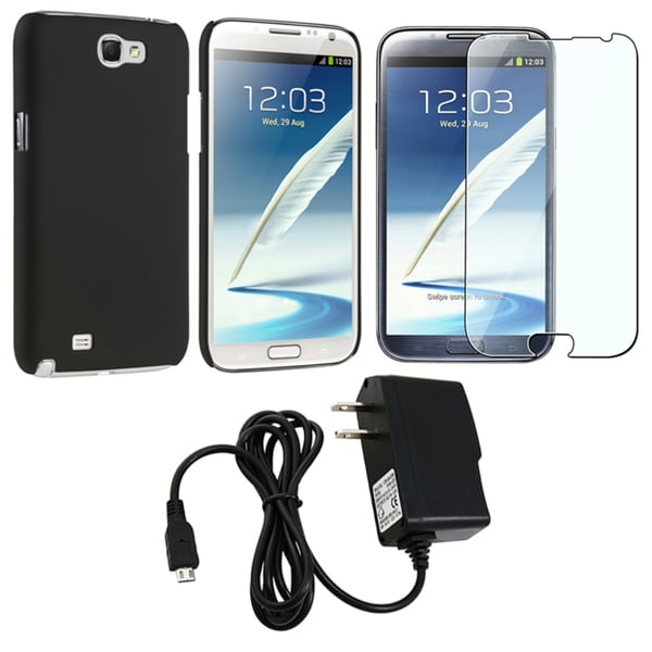 BasAcc Case/ Protector/ Travel Charger for Samsung Galaxy Note II