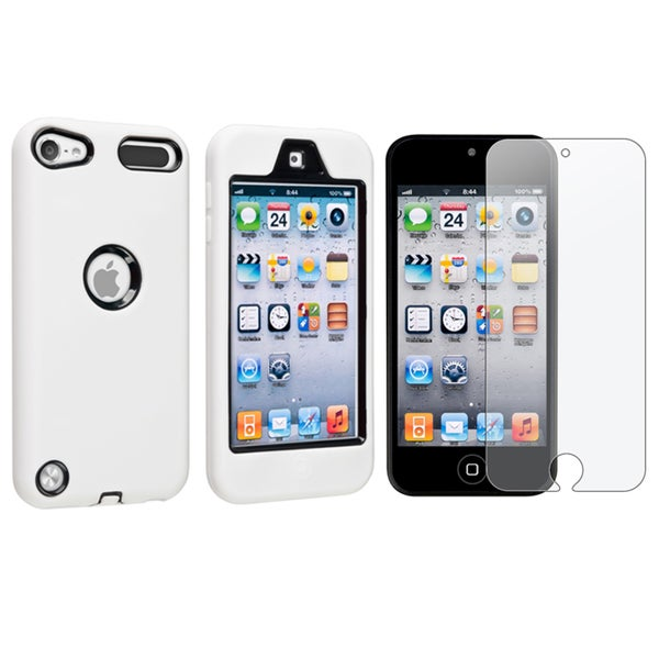 BasAcc White Case/ Screen Protector for Apple iPod Touch Generation 5