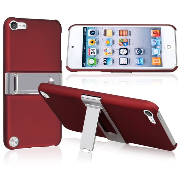 BasAcc Red with Chrome Stand Case for Apple iPod Touch Generation 5