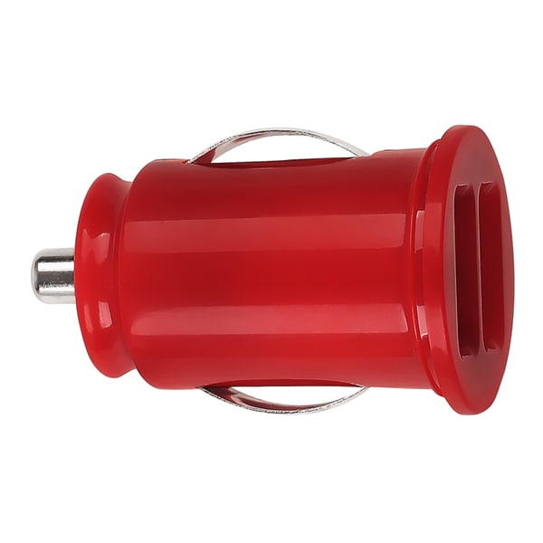 BasAcc Red Universal Dual USB Mini Car Charger Adapter