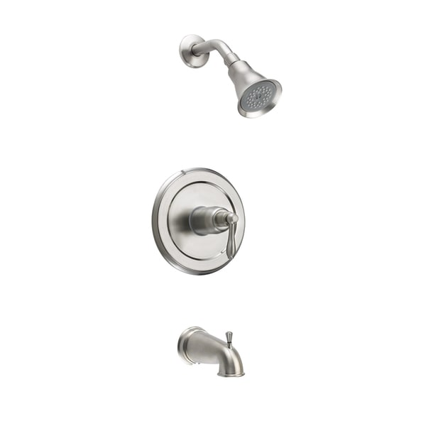 Fontaine Montbeliard Brushed Nickel Single Handle Tub And Shower