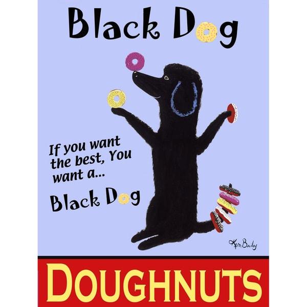 Ken Bailey 'Black Dog Doughnuts'  Paper Print (Unframed)