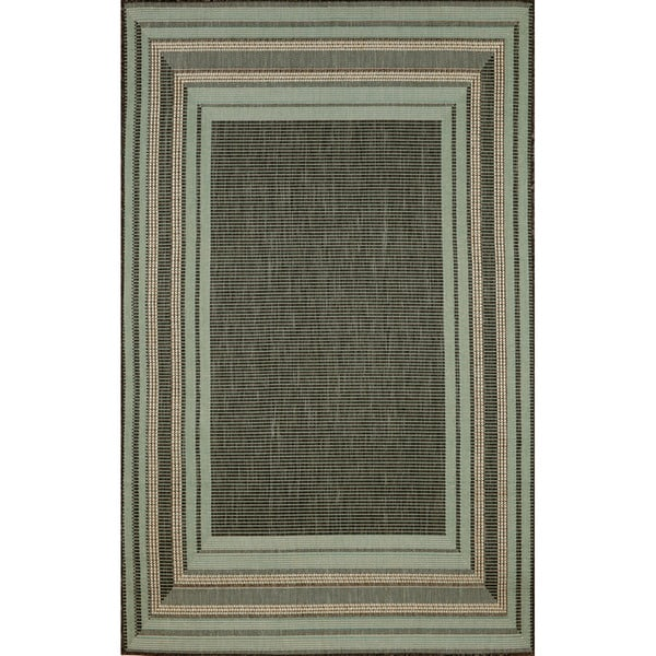 Sonoma Border Transitional Indoor/ Outdoor Rug (7'10 x 9'10)