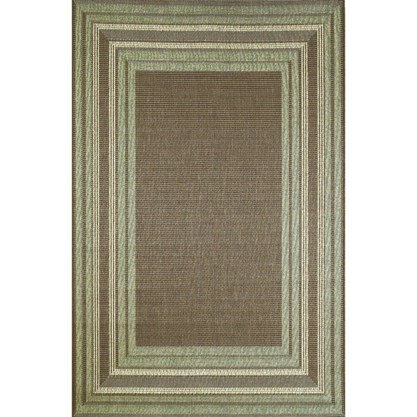 Sonoma Border Outdoor Rug (7'10 x 7'10)