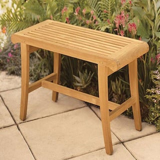 teak bath and spa bench