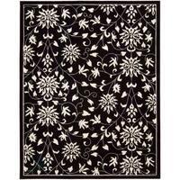 Nourison Hand-tufted Versailles Palace Floral Black/White Rug (5'3 x 8'3)