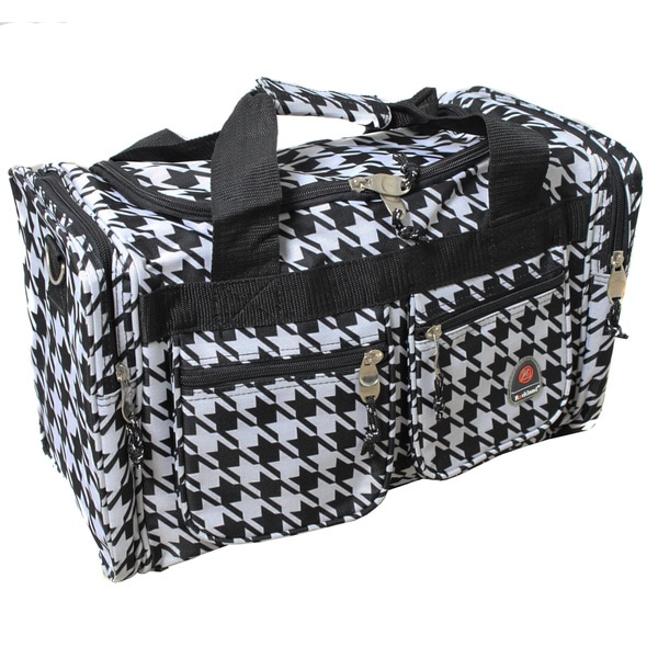 Rockland Bel-Air Black/White 19-inch Carry-on Duffel Bag