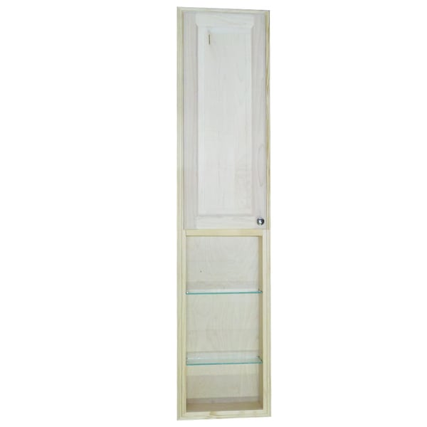 Baldwin 66-inch Natural Recessed Pantry Storage Cabinet with 30-inch Shelf
