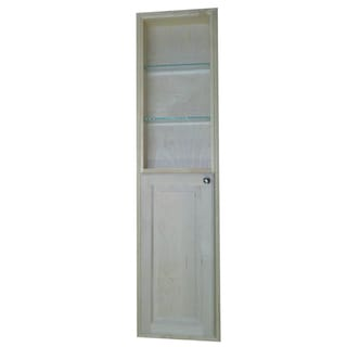 Baldwin 60-inch Natural Recessed Pantry Storage Cabinet with 30-inch Shelf