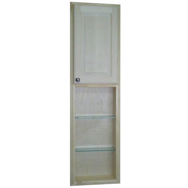 Baldwin 54-inch Natural Recessed Pantry Storage Cabinet with 30-inch Shelf