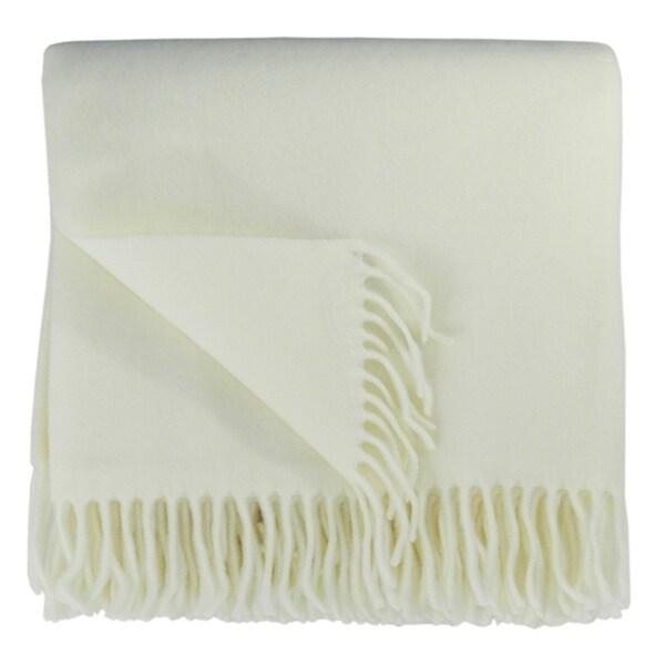 Bocasa Natural Woven Wool 50 x 67-inch Blanket