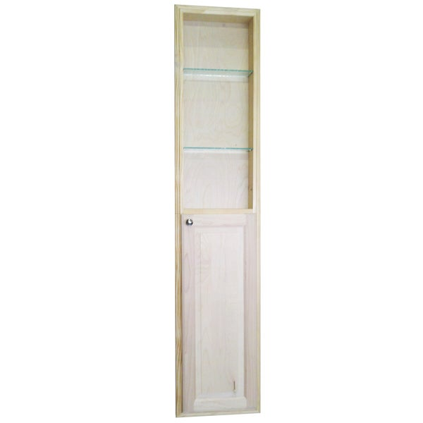 Baldwin 72 Inch Natural Recessed Pantry Storage Cabinet With 36 Inch Shelf Brown Free