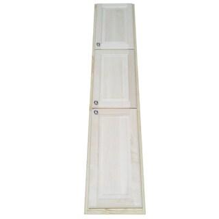 Baldwin 78-inch Natural Recessed Pantry Storage Cabinet