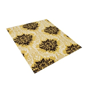 Alliyah Handmade Tufted York Yellow New Zeeland Blend Wool Rug (8' x 10')