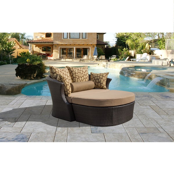 Corvus Shotiva Outdoor Furniture 2 Piece Daybed With Sunbrella Fabric Cushions And Pillows