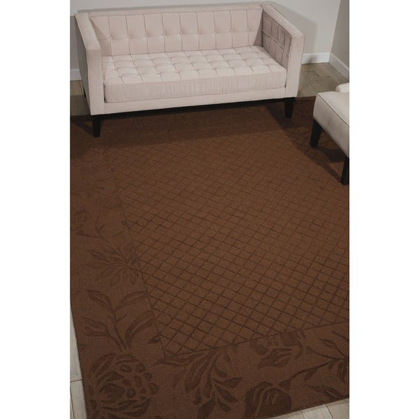 Aubusson Collection Rust Rug (7'9 x 9'9)