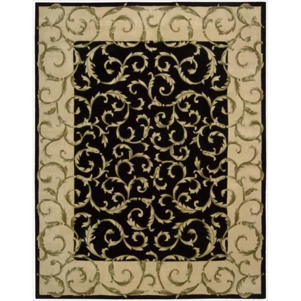 Nourison Hand-tufted Versailles Palace Black Rug (9'6 x 13'6)