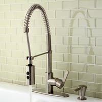 Satin Nickel Spiral Pull-down Kitchen Faucet
