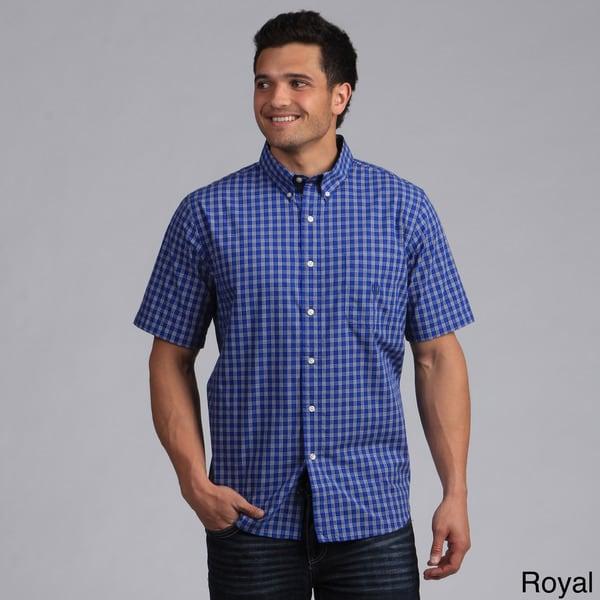 Chaps by ralph lauren men 39 s button down plaid short for Chaps button down shirts