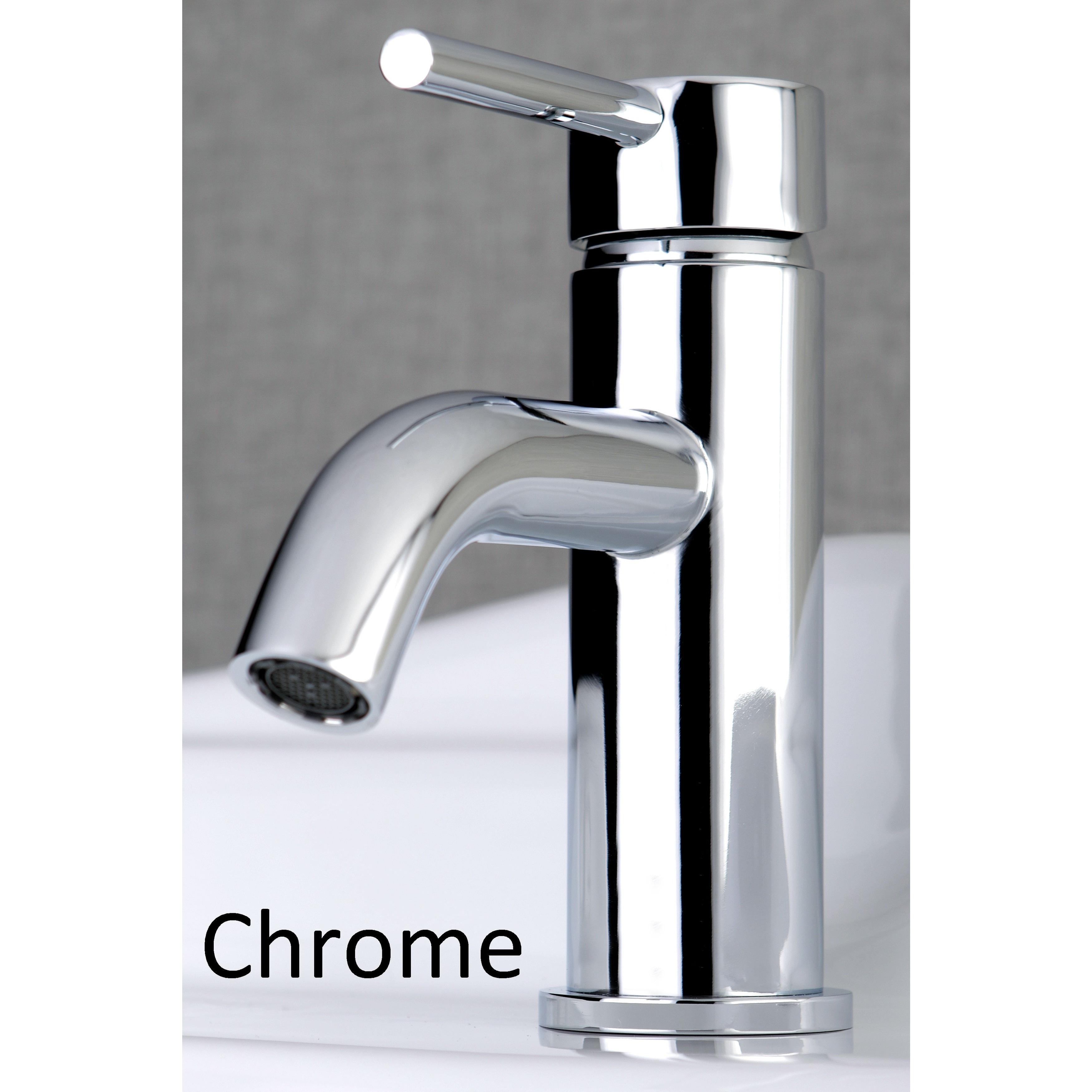 Shop Single Handle Bathroom Faucet With Pop Up Drain Overstock