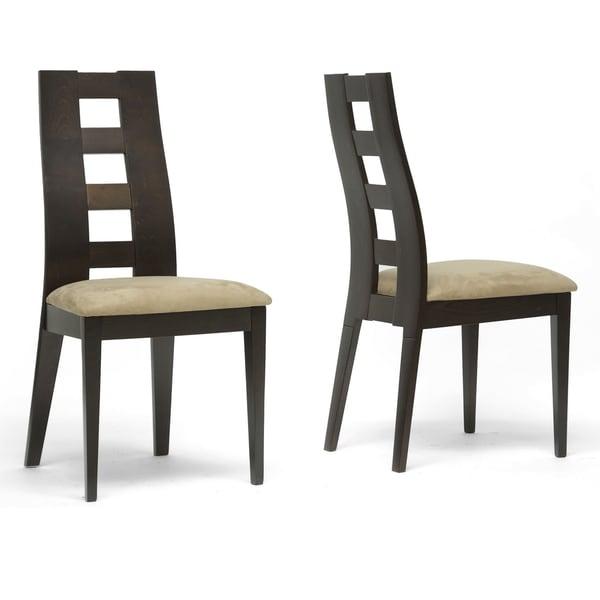 Baxton Studio Paxton Dark Brown Modern Dining Chairs (Set of 2)