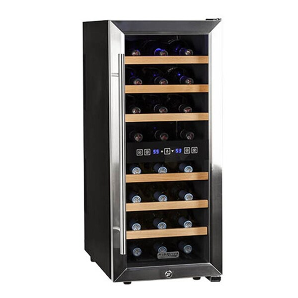 Koldfront 24 Bottle Dual Zone Wine Cooler Sold by Living Direct