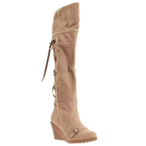Riverberry Women's 'Sensi' Microsuede Over-the-knee Boots