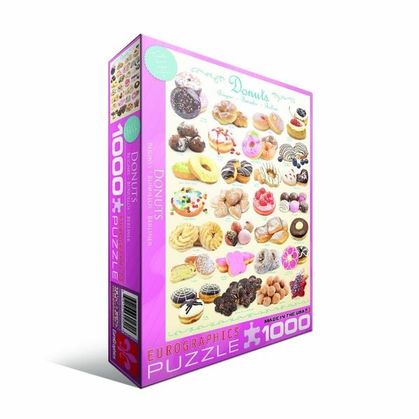 Eurographics 100-piece Donuts Jigsaw Puzzle