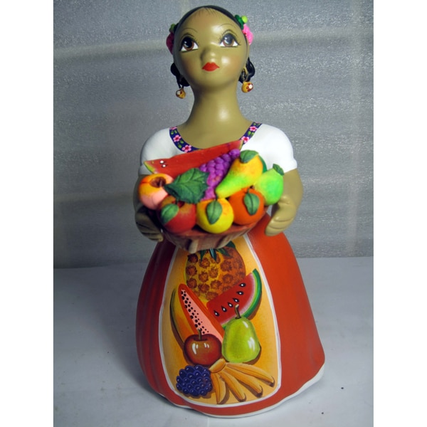 Lupita Fruutas 'Fruit Seller' Ceramic Doll (Mexico)