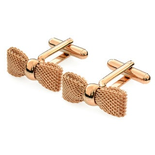 EJ Sutton Red-Gold Plated Bow Tie Cuff Links (Israel)