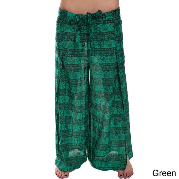'Om' Design Cotton Side Slit Pants (Nepal)