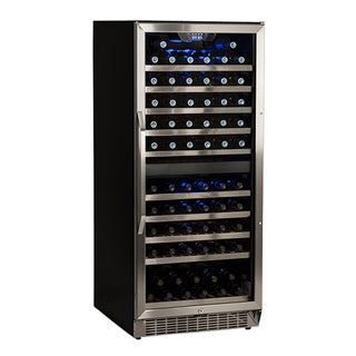 EdgeStar Stainless Steel and Black 110 Bottle Built-In Dual Zone Wine Cooler Sold by Living Direct