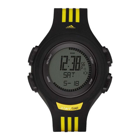 Adidas Men's Black/ Yellow Digital Sports Watch