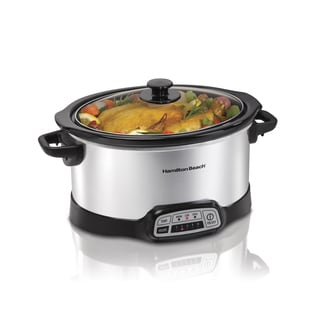 Hamilton Beach Silver Programmable 6 Quart Slow Cooker